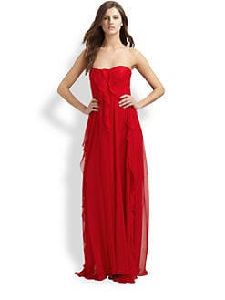 Badgley Mischka - Silk Chiffon Gown