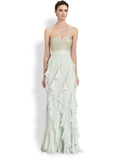 Badgley Mischka - Beaded Bodice Gown