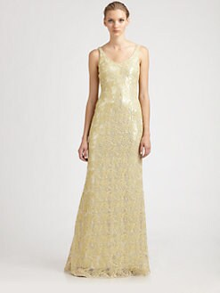 Badgley Mischka - Metallic Gown