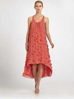 Badgley Mischka - Silk Chiffon Petal Trapeze Dress