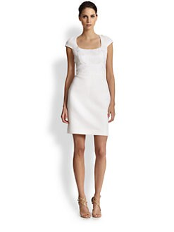 Badgley Mischka - Embroidered Dress