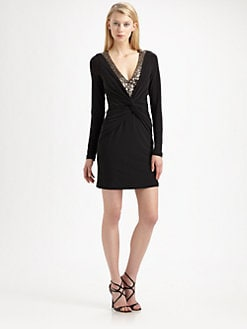 Mark + James by Badgley Mischka - Sequin Twist-Front Dress