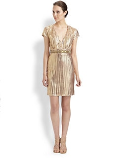 Mark + James by Badgley Mischka - Beaded Pleat Dress