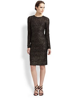 Mark + James by Badgley Mischka - Metallic Tweed Dress