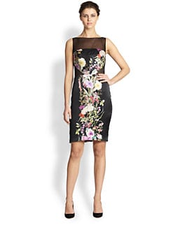 Mark + James by Badgley Mischka - Floral Silk Dress