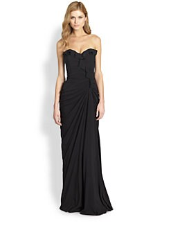 Mark + James by Badgley Mischka - Strapless Silk Sweetheart Gown
