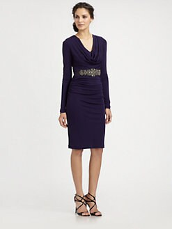 Badgley Mischka - Cowl Neck Dres