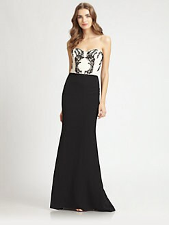 Badgley Mischka - Beaded Strapless Gown