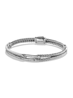 Petite Pavé Labyrinth Single-Loop Diamond Bracelet
