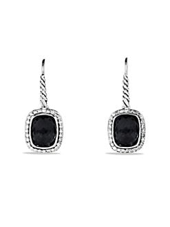 David Yurman - Diamond, Black Onyx & Sterling Silver Earrings