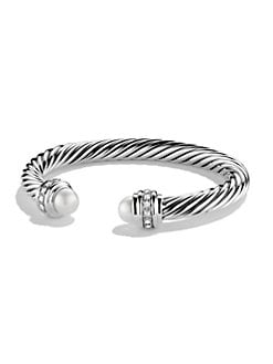 David Yurman - Pearl & Diamond Bracelet