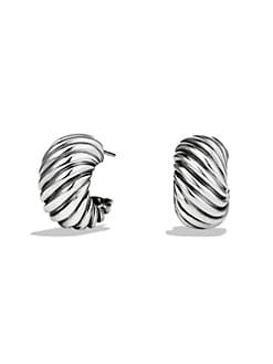 David Yurman - Sterling Silver Shrimp Earrings