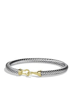 David Yurman - Sterling Silver & 14K Yellow Gold Buckle Bracelet