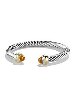 David Yurman - Citrine, 14K Gold & Sterling Silver Cuff Bracelet