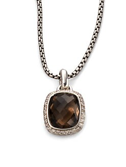 David Yurman - Smokey Quartz, Diamond & Sterling Silver Necklace