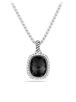 David Yurman - Black Onyx, Diamond & Sterling Silver Necklace