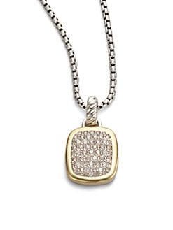 David Yurman - Diamond, 18K Yellow Gold & Sterling Silver Necklace