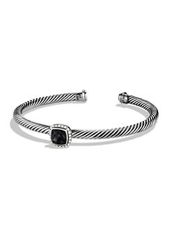 David Yurman - Diamond, Black Onyx & Sterling Silver Bracelet