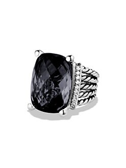 David Yurman - Black Onyx & Sterling Silver Ring/.75