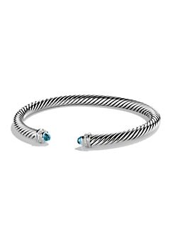 David Yurman - Diamond, Blue Topaz & Sterling Silver Bracelet