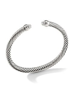 David Yurman - Diamond & Sterling Silver Bracelet