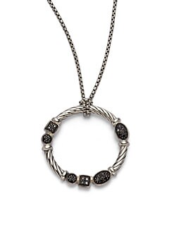 David Yurman - Black Diamond & Sterling Silver Necklace