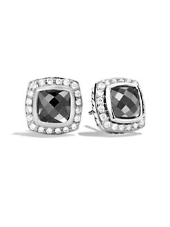 David Yurman - Diamond Accented Hematite Stud Earrings