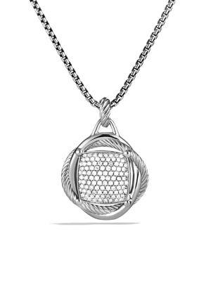 Infinity Large Pendant with Diamonds