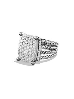 David Yurman - Diamond & Sterling Silver Wheaton Ring