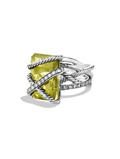 David Yurman - Diamond Accented Lemon Citrine Ring