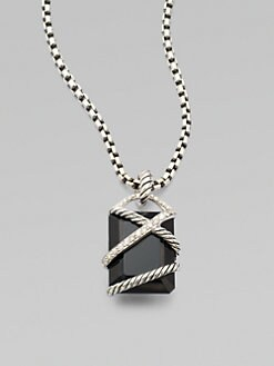 David Yurman - Diamond Accented Black Onyx Enhancer