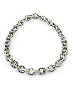 David Yurman - Sterling Silver & 18K Yellow Gold Link Necklace