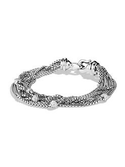 David Yurman - Diamond & Sterling Silver Multi-Strand Bracelet