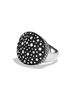 David Yurman - Diamond and Sterling Silver Oval Ring