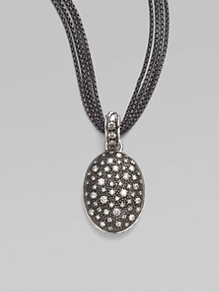 David Yurman - Pave Diamond & Blackened Sterling Silver Starlight Oval Enhancer