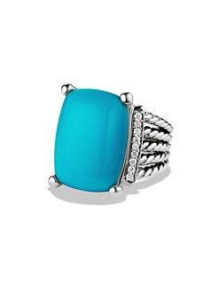David Yurman - Diamond Accented Turquoise Ring