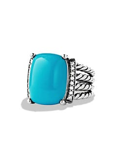 David Yurman - Small Diamond Accented Turquoise Ring