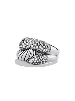 David Yurman - Diamond & Sterling Silver Knot Ring