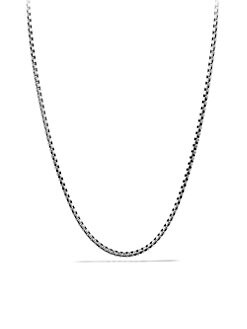 David Yurman - Sterling Silver Box Chain Necklace