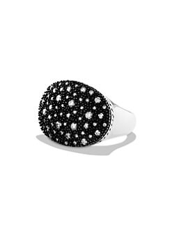 David Yurman - Pave Diamond & Blackened Sterling Silver Starlight Ring