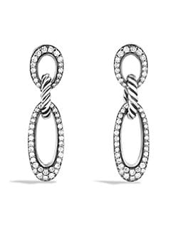 David Yurman - Diamond Encrusted Ellipse Earrings