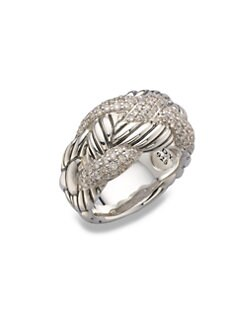 David Yurman - Diamond Accented Sterling Silver Woven Ring