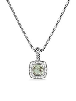 David Yurman - Diamond, Prasiolite & Sterling Silver Necklace