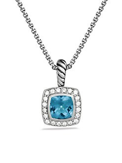 David Yurman - Diamond, Blue Topaz & Sterling Silver Necklace