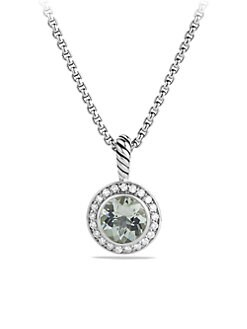 David Yurman - Prasiolite, Diamond & Sterling Silver Pendant Necklace