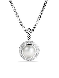 David Yurman - Pearl & Sterling Silver Pendant Necklace