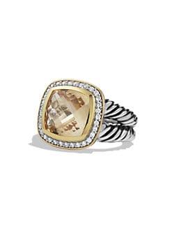 David Yurman - Albion Ring with Citrine, Diamonds, and Gold