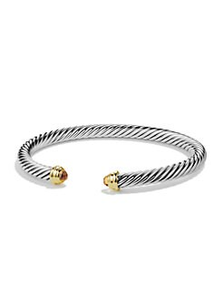 David Yurman - Citrine, Sterling Silver & 14K Yellow Gold Bracelet