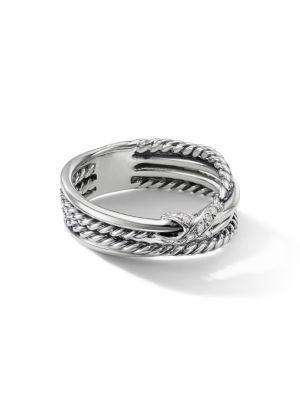 DAVID YURMAN | X Crossover Ring With Diamonds | Goxip