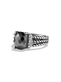 David Yurman - Diamond, Gemstone and Sterling Silver Ring/Hematite